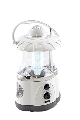 "Northpoint Multifunctional Radio Camping Lantern, Battery Powered, LED Lantern, Tent Light, Perfect Lantern Flashlight for Hurricane, Emergency, Survival Kits, Hiking, Fishing, Home Decor , White, 10""x6""x6"""