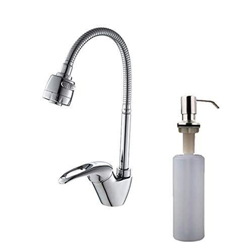 YBQ. Messingmischer Kalt- und Heißwasserhahn Einloch-Wasserhahnmischer Küchenmischer (Color : F405-1d)