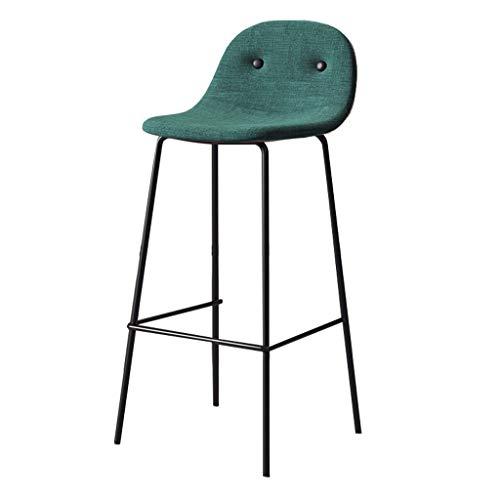 75cm Moderne Barhocker Stühle Gepolsterte Rückenlehnen und Sitze Barhocker mit Black Metal Beine Pub Bistro Küche Dining Chair Max.Last 200kg