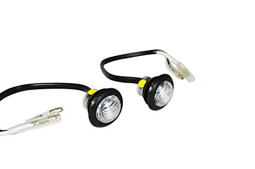 Piccola Rotonda Montaggio A Filo indicatori LED Marcatori Per Progetto Moto e Scooter