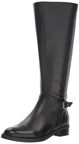 Blondo Women's Evie WS Fashion Boot, Black Leather, 9.5 M US