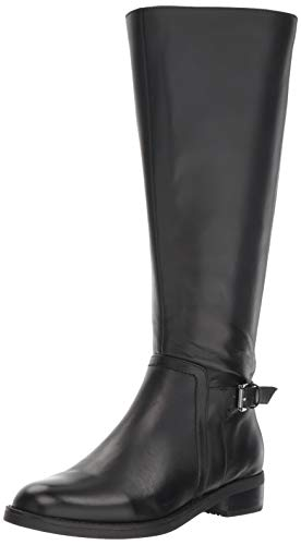Blondo Women's Evie WS Fashion Boot, Black Leather, 9.5 M US