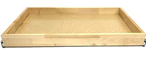 Pull Out Drawer for Cabinets Organizer Opening Full Extension Roll Out Natural Wood Roll Out Tray (21
