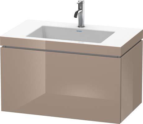 Duravit Duravit Waschtischunterbau L-CUBE mit Waschtisch Vero Air, 500 x 800 x 480 mm ohne Hahnloch cappuccino hochglanz