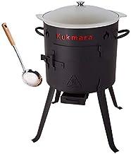 rukauf. Set Utschak, 36 cm  8 Liter Kasan Kazan aus ALU  Schaumlöffel/Feldküche Gulasch-Kessel Feuer-Ofen Outdoor