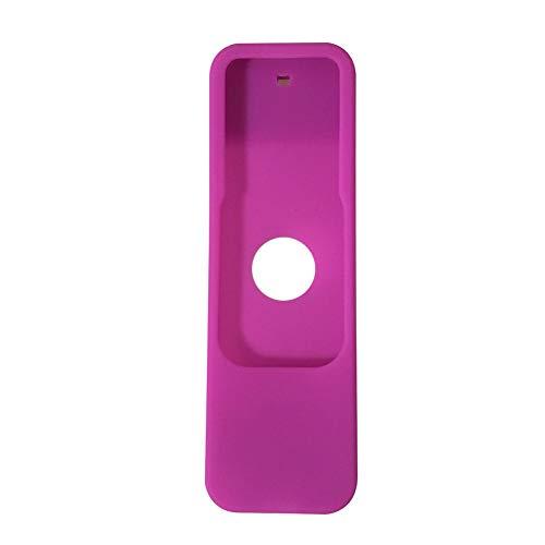 MCLseller - Carcasa protectora para Apple TV 4 (silicona), diseño de mando a distancia, No nulo, Morado, Tamaño libre