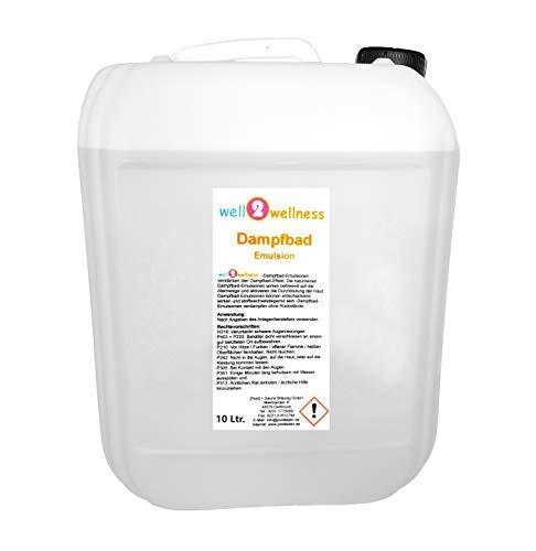 well2wellness® Dampfbademulsion/Dampfbad Duft 10 l Kanister - über 160 Düfte zur freien Wahl