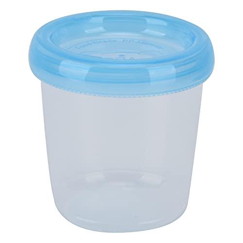 Almacenamiento de alimentos para bebés en el congelador, pequeños frascos de plástico reutilizables de tamaño pequeño a prueba de fugas para mantener la frescura en la cocina del hogar