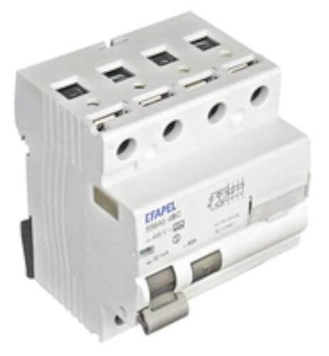Efapel modus 55 - Interruptor diferencial 4 polos 30ma clase -ac 25a modus