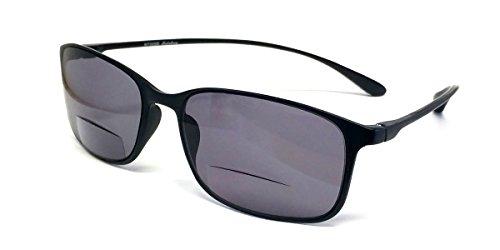 Calabria Reading Glasses - 720SB Sun Bi-Focal Flexie in Ebony (+2.75)