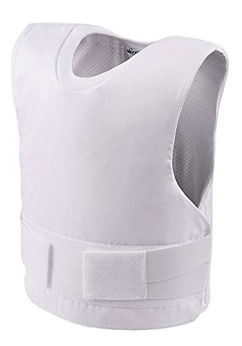 SafeGuard Clothing Kugelsichere Weste Stuffe II + Stichschutz Stuffe I - Coolmax - Weiß & Schwarz (Weiß, L)