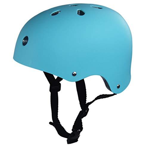 XRQ Helm Kinderhelm Schutzhelm ABS-Helmschale Fahrradhelm Sporthelm Rollerhelm Skateboardhelm Skifahren Radfahren Schutzausrüstung Skateboard Bergsteigen Klettern Reiten (49-61 cm),Blau,L
