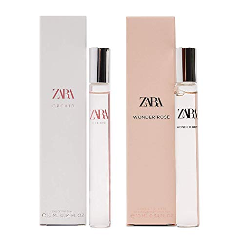 New Two bottles ZARA WONDER ROSE 10ML + ORCHID 10ML EAU DE TOILETTE WOMAN Parfum Hawaii