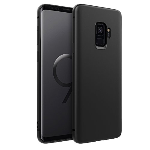 EasyAcc Slim Case for Samsung Galaxy S9, Matte Black TPU Phone Cases Thin Basic Finish Profile Back Protective Cover Compatible with Samsung Galaxy S9 5.8'