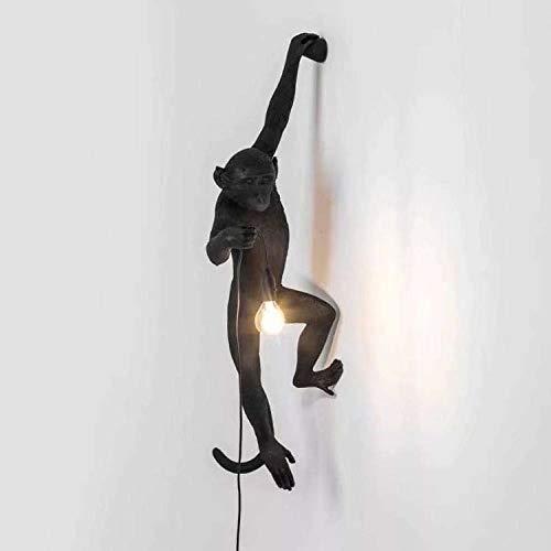 Lumière De Singe Industriel Rétro Artistique Chic Applique Murale Creative Résine Singe Forme Led Applique Extérieur Salon Salle À Manger Chambre Lustre Lampe De Table Applique Murale En