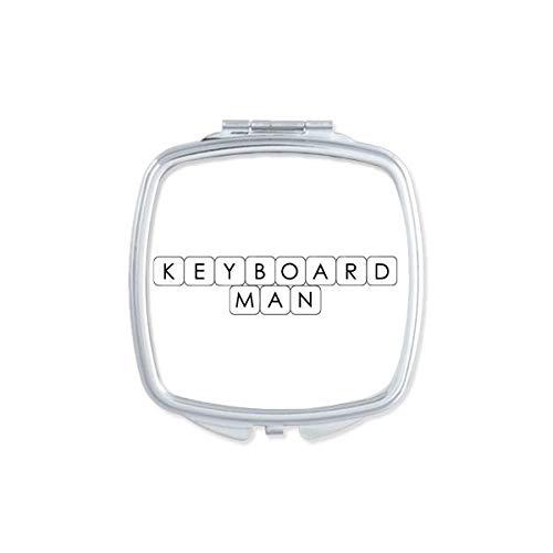 DIYthinker Tastatur Man Square Compact Make-up Taschenspiegel Tragbar Niedliche Kleinen Hand Spiegel Geschenk