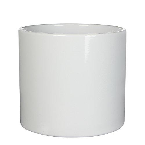 Mica decorations 144057 Era Übertopf Keramik für Indoor, Keramik, Weiß, 28 x 28 x 26 cm