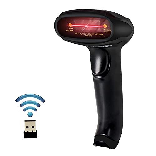 USB Wireless Barcode Scanner,Symcode Handheld Laser Bar Code Reader Scanner (2.4GHz Wireless &...