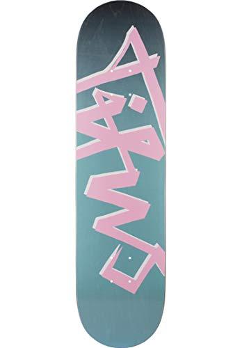 TITUS Skateboard Deck Scratch, Turquoise-Natural, 8, aus 7 Schichten Ahornholz, Jugendliche, Erwachsene, Anfänger, Profis, guter Pop, leicht und stark