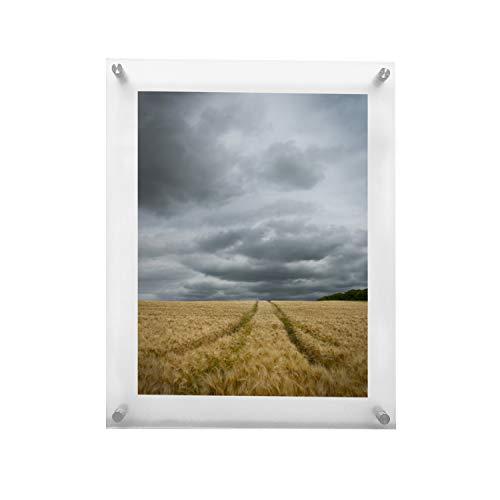 RY DISPLAY Acryl-Bilderrahmen zum Aufhängen, Wandmontage, schwebender rahmenloser Bilderrahmen zum Aufhängen, für Abschlusszertifikate, Familienfoto, 20 x 25 cm