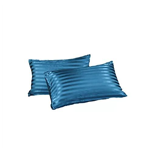 Funda De Almohada De Rayas Simples De Color Puro Funda De Almohada Suave Y Sedosa Funda De Almohada De sobre 51X76Cm (4Pcs)
