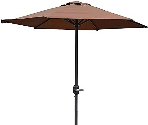 XHPC Garden parasol, Garden P Outdoor Patio Umbrella, 2m /6.5feet Table Sunbrella Umbrella With Ventilation and Crank, For/swimming Pool/beach/garden (Color : Brown)