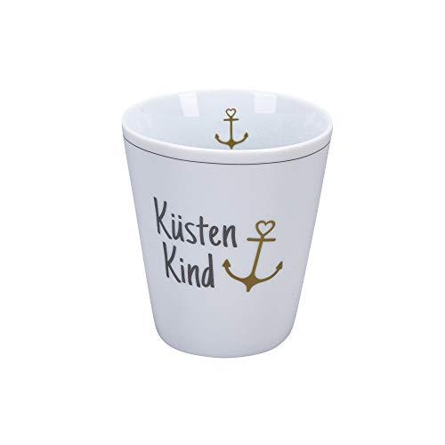 Krasilnikoff - Happy Mug - Becher, Tasse - Küstenkind - Porzellan - H10 x Ø8,7 cm - Volumen: 330 ml