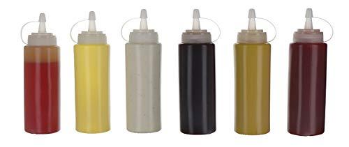 Oaklyn (6Pk) 14 Oz Kunststoff Spritzen Gewürz Dosierflaschen Mit Twist Auf Cap Kappen - Top Spender Für Ketchup Senf Mayo Heißen Soßen Olivenöl - Bulk-Klare Bpa Free Bbq Set