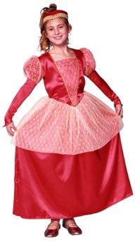Kid's Girl's Queen Of Hearts Costume (Size:Medium 8-10)