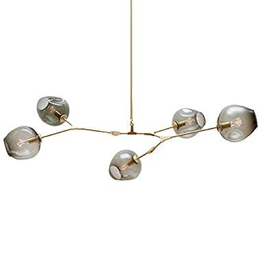 MYNIGHTWISH Chandelier Molecular Ceiling Pendant Light Lamp Modern DNA Multi Branch Light 5 Light Free Bulbs