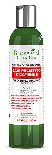 "Hair Growth/Anti - Hair Loss Sulfate-Free SHAMPOO ""Saw Palmetto & Cayenne"". Alopecia Prevention and DHT Blocker. Doctor Developed. NEW 2018 FORMULA!"