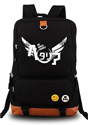 Gumstyle Anime APH Hetalia Axis Powers Luminoso Backpack Mochila Escolar para Portátil Estudiante Bolso de Escuela Casual Grande Daypack Rucksack Black/2