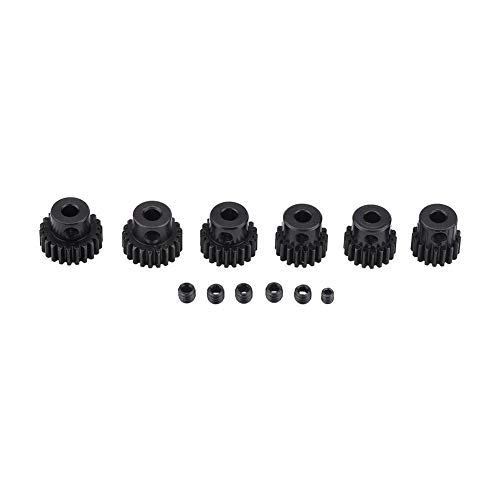 Dilwe 6Pcs RC Motor Gears, 7T-22T Motor Pinion Gears Partes Set Kit para 1/10 RC Motor de Coche
