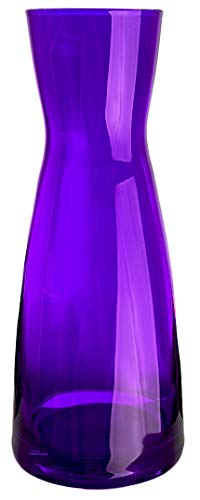 Bormioli Rocco - Wasserkaraffe Dekanter Glas 0,5 Liter Saftkrug Weinkaraffe Glaskaraffe Wein krug Wasser Saftkrug - hochwertige Qualität - 20,5cm - Lila - Ypsioln Karaffe