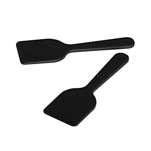 Fackelmann Raclette-Spachtel, Raclette-Schaber aus Kunststoff (Farbe: Schwarz), Menge: 4 Stück