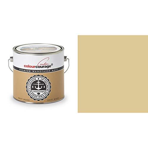 2,5 Liter Colourcourage Premium Wandfarbe Drift Wood Braun Hellbraun | L739449566 | geruchslos | tropf- und spritzgehemmt