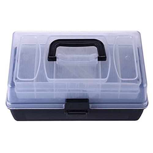 Caja de aparejos de pesca Caja de aparejos de pesca Caja de almacenamiento flotante Caja de señuelos de pesca Organizador de joyería El kit de almacenamiento de la caja de almacenamiento for la herram