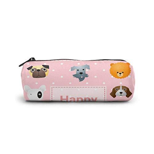 Nette alles- Gute zum Geburtstagkarte mit lustigen Hunden 199 Bleistift-Kasten-Stift-Beutel-Beutel-stationären Kasten-Make-upkosmetiktasche für Studenten