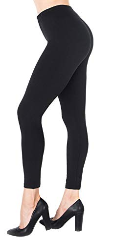 NUUR Damen Leggings Sporthose Mittlere Taille Yogahose für Alltag, Yoga, Jogging Einheitsgröße/Plusgröße