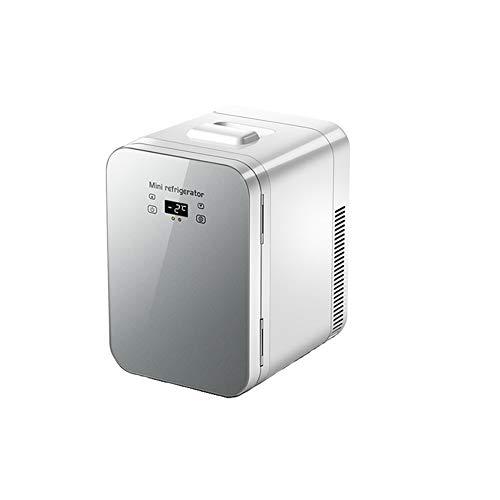 CROW Minikühlschrank, Weinflaschenkühler, Autokühlschrank, Thekenkühlschrank, Massivholztür mit Eisbox, Minikühlschrankkühler, Kompaktkühlschrank, Haus, Büro, Autokühlschrank-Silver