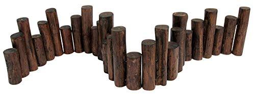 Master Garden Products Teak Wood Uneven Top Solid Log Edging 60quotL