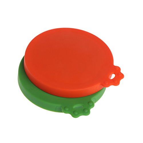 New SprinZ Pet Food Can Cover Silicone Dogs Cats Storage Tin Cap Lid Reusable Random Color