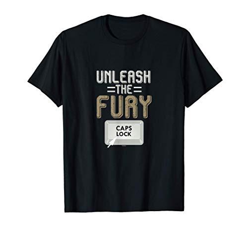 Feststelltaste Tastatur Programmierer Quellcode IT Geschenk T-Shirt