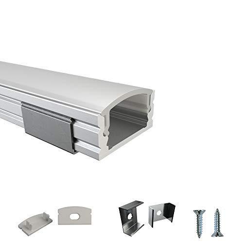 Rabando Perfil de aluminio para tiras LED de 12 mm (5 unidades, 5 m)