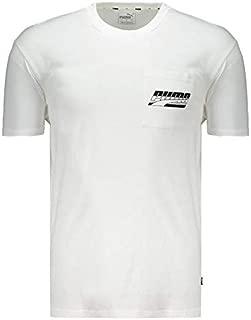 Camiseta Puma Rebel Pocket Branca