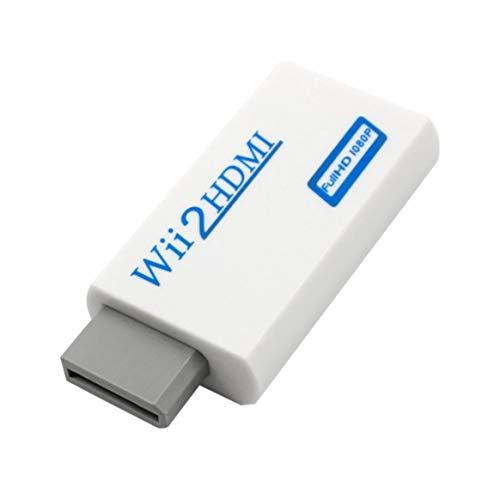 Prima05Sally Para el convertidor de Wii a HDMI Transformado para Wii a HD-TV/HD-Proyector 720p / 1080P Video Audio en Full Digital HDMI 720p 1080p