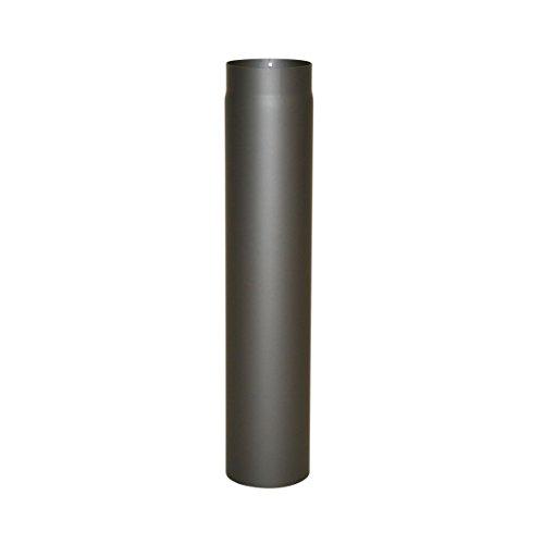 Ofenrohr Senotherm® 2 mm Ø 120 mm hitzebeständig lackiert, gerade - Rauchrohr, Kaminrohr gussgrau - für Pellettofen und Kamine - verschiedene Länge (750 mm)