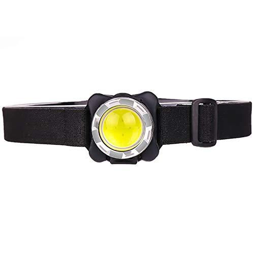 SHIYIMY Linternas Frontales Jefe de luz súper Brillante proyector USB Recargable Faro COB LED con batería incorporada Impermeable Jefe de la lámpara de la iluminación Blanca iluminación