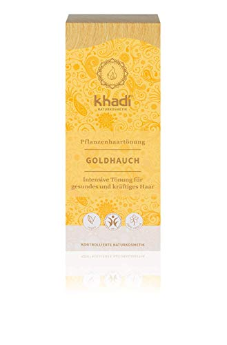 Khadi - Tinte Herbal, Rubio Toque Dorado, 100 g