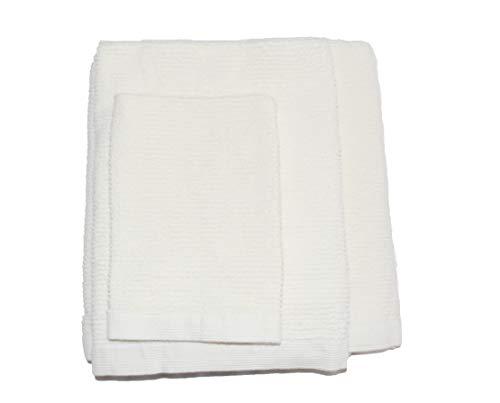 Exotic Cotton Juego de Toallas de Baño M 70 x 140 cm 100% Algodón – 3 Piezas de Secado Rápido – Toalla de Cara 30x50 cm, Toalla de Mano 50x100 cm y Toalla de Ducha 70 x 140 cm – Toallas Beige
